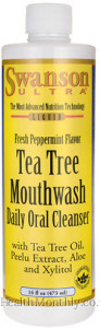 Swanson Ultra Tea Tree Mouthwash with Tea Tree Oil, Peelu Extract, Aloe & Xylitol