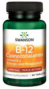 Swanson Triple Action Vitamin B-12 Cyanocobalamin