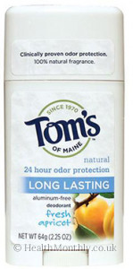 Tom's Maine Natural Long-Lasting Deodorant Fresh Apricot