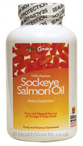 Vital Choice Wild Alaskan Sockeye Salmon Oil Plus Vitamin D3