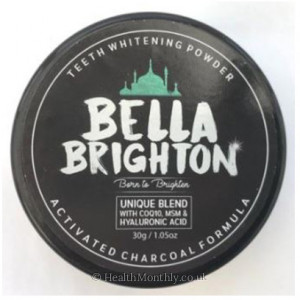 World Foods Bella Brighton Activated Charcoal Teeth Whitening Powder