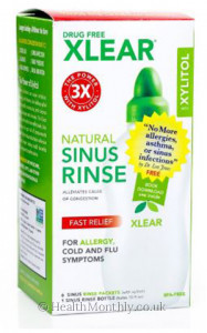 Xlear Natural Sinus Rinse with Xylitol and Saline Solution