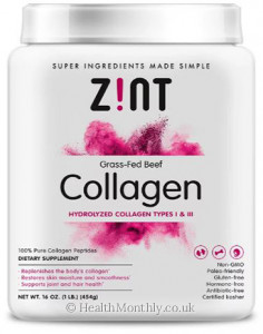 Zint Nutrition Collagen Hydrolysate Container Collagen Types I & III