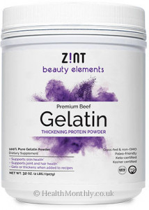 Zint Nutrition Grass-Fed Beef Gelatin