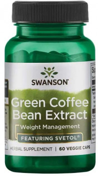 Health & Wellbeing|Herbal Remedies & Natural Medicines|Diet & Diabetic Products|Dietary Reducing Products|Multivitamins & Minerals Swanson Green Coffee Bean Extract Featuring Svetol® (200 mg, 60 Vegetarian Capsules)