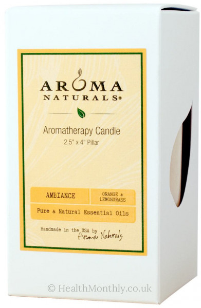 Aroma Naturals Ambiance Yellow Pillar Candle