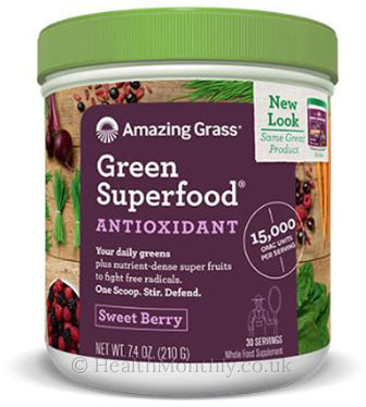 Amazing Grass Green Superfood, Antioxidant, Sweet Berry
