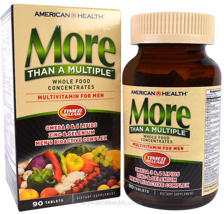 American Health More Than A Multiple, Multivitamin for Men