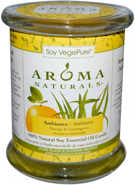 Aroma Naturals Ambiance Glass Soy Votive Candle
