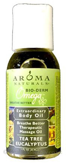Aroma Naturals Breathe Better Tea Tree Eucalyptus Body Oil