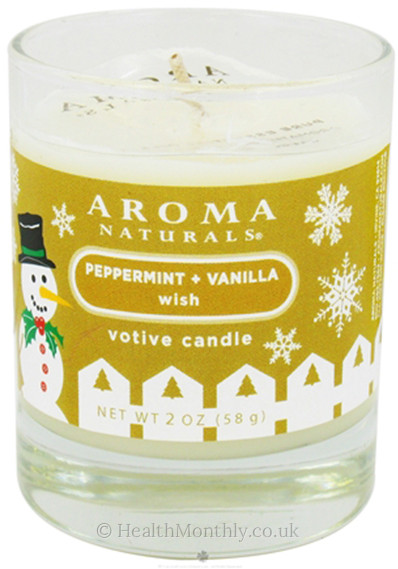 Aroma Naturals Cool Wish Holiday Glass Soy Votive