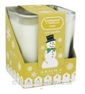 Aroma Naturals Cool Wish Holiday Soy Candle