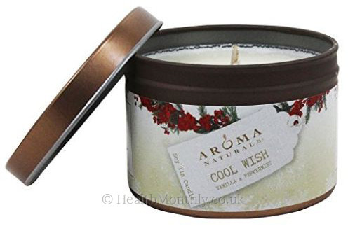 Aroma Naturals Cool Wish Holiday Tin Soy Candle