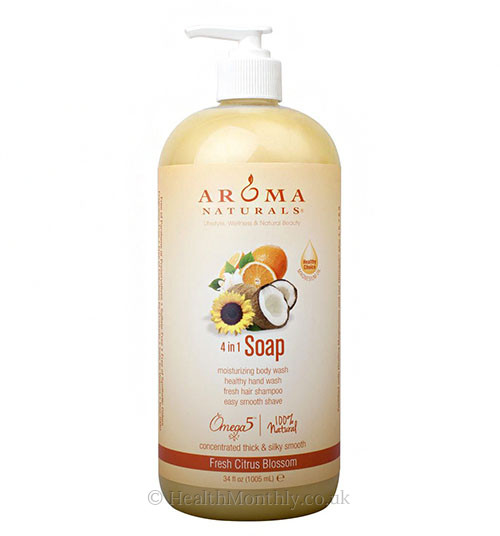 Aroma Naturals Fresh Citrus Blossom Natural Castile 4-In-1 Soap