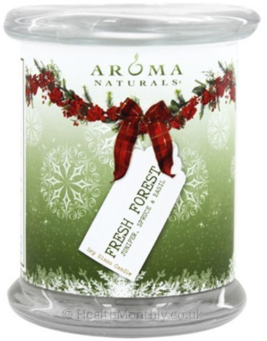Aroma Naturals Fresh Forest Holiday Pillar Soy Candle