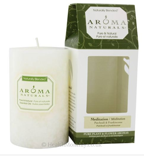 Aroma Naturals Meditation White Pillar Candle