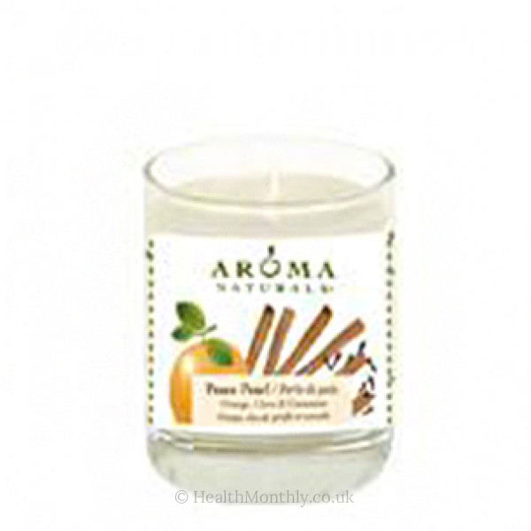 Aroma Naturals Peace Pearl Soy Vegepure Poured Glass Votive Candle
