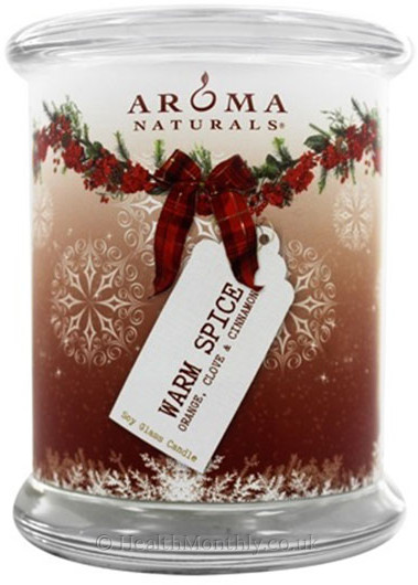 Aroma Naturals Warm Spice Peace Ruby Holiday Pillar Soy