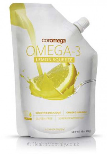 Coromega Omega-3 Big Squeeze, Lemon