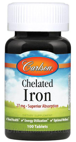 Carlson Chelated Iron, Superior Absorption