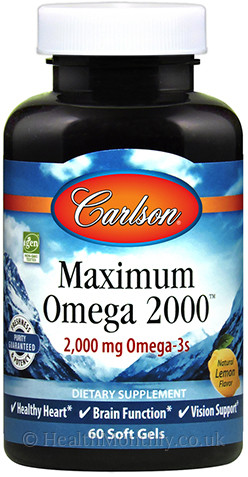 Carlson Maximum Omega 2000™, 2000 mg Omega-3 per serving,
