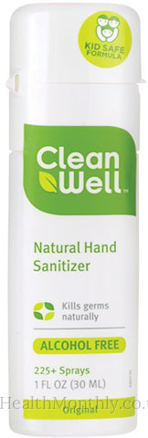 Clean Well Natural Hand Sanitizer Original Spray