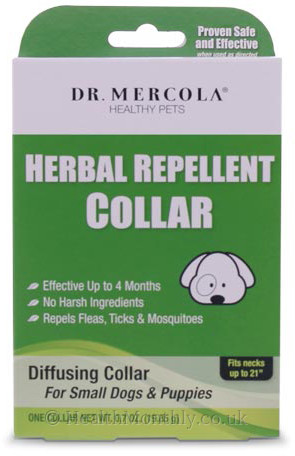 Dr. Mercola Healthy Pets, Herbal Repellent Collar for Small Dogs & Puppies