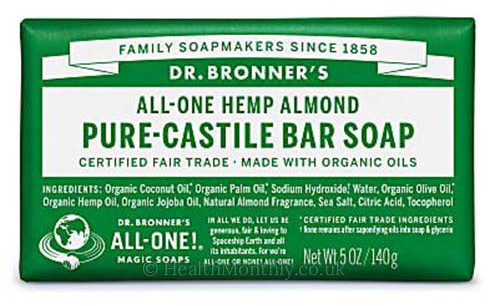 Dr Bronner Castile Bar Soap Almond 5 Oz