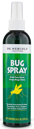 Dr. Mercola Healthy Skin, Bug Spray, Repellent for Mosquitoes, Fleas, Chiggers, Ticks & Biting Insects