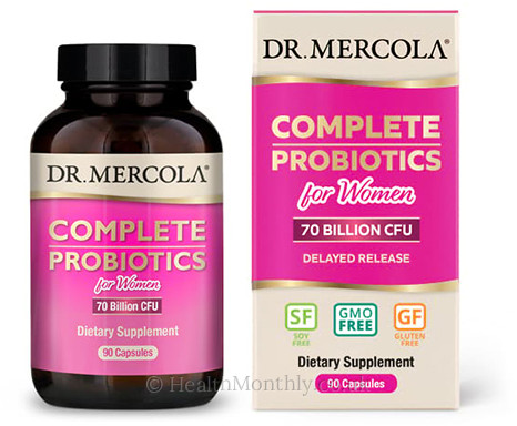 Dr. Mercola Complete Probiotics for Women 70 Billion CFU
