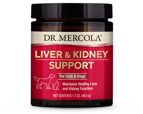 Dr. Mercola Liver & Kidney Support for Cats & Dogs