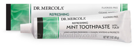 Dr. Mercola Toothpaste with Tulsi, All-Natural Formula