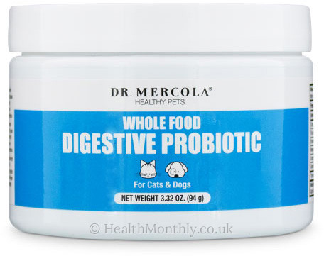 Dr. Mercola Healthy Pets, Whole Food Digestive Probiotic for Cats & Dogs