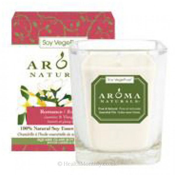Aroma Naturals Romance Square Glass Soy Candle