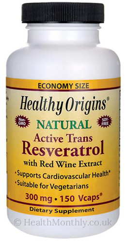 Healthy Origins Natural Active Trans Resveratrol