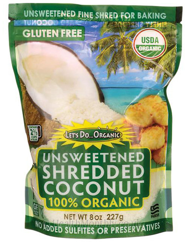 Let's Do Organic 100% Organic Unsweetened Shredded Coconut
