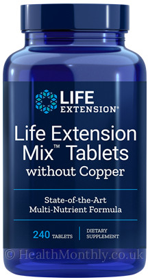 Life Extension Mix™ Tablets without Copper