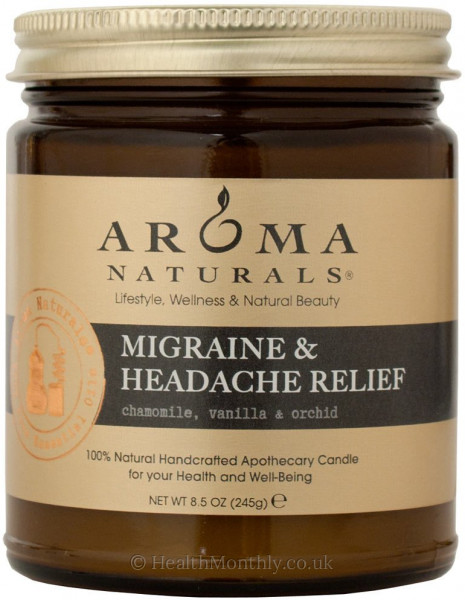Aroma Naturals Migraine And Headache Relief Apothecary Jar Candle
