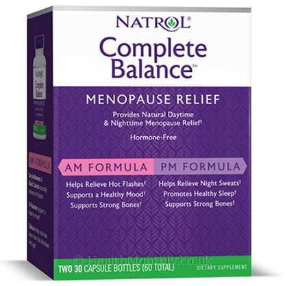 Natrol Complete Balance Menopause Relief AM and PM Formula