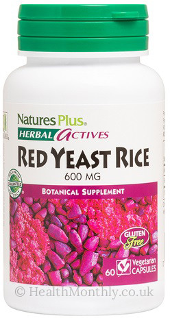 Natures Plus® Herbal Actives, Red Yeast Rice