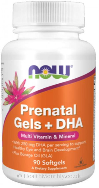 Now® Prenatal Gels + DHA, Multi Vitamin & Mineral