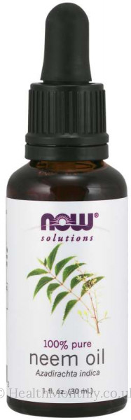Now® Solutions, 100% Pure Neem Oil