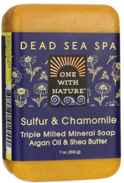 One With Nature Dead Sea Spa Sulphur & Chamomile Mineral Soap