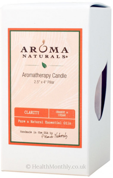 Aroma Naturals Clarity Orange Pillar Candle