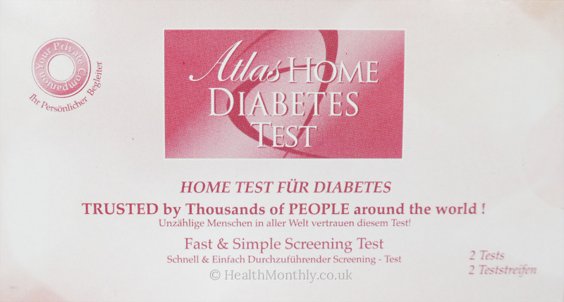 Atlas Home Diabetes Test Kit