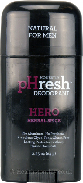 pHresh Mens Hero Herbal Spice Deodorant