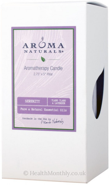 Aroma Naturals Serenity Purple Pillar Candle