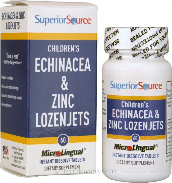 Superior Source Children's Echinacea & Zinc Lozenjets