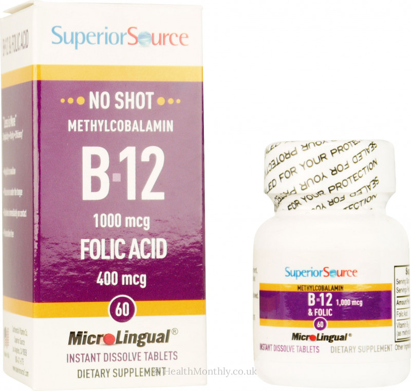 Superior Source No Shot Methylcobalamin B12 & Folic Acid