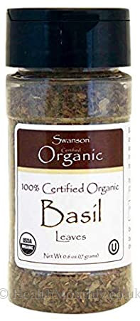 Swanson 100% Certified Organic Basil Leaves